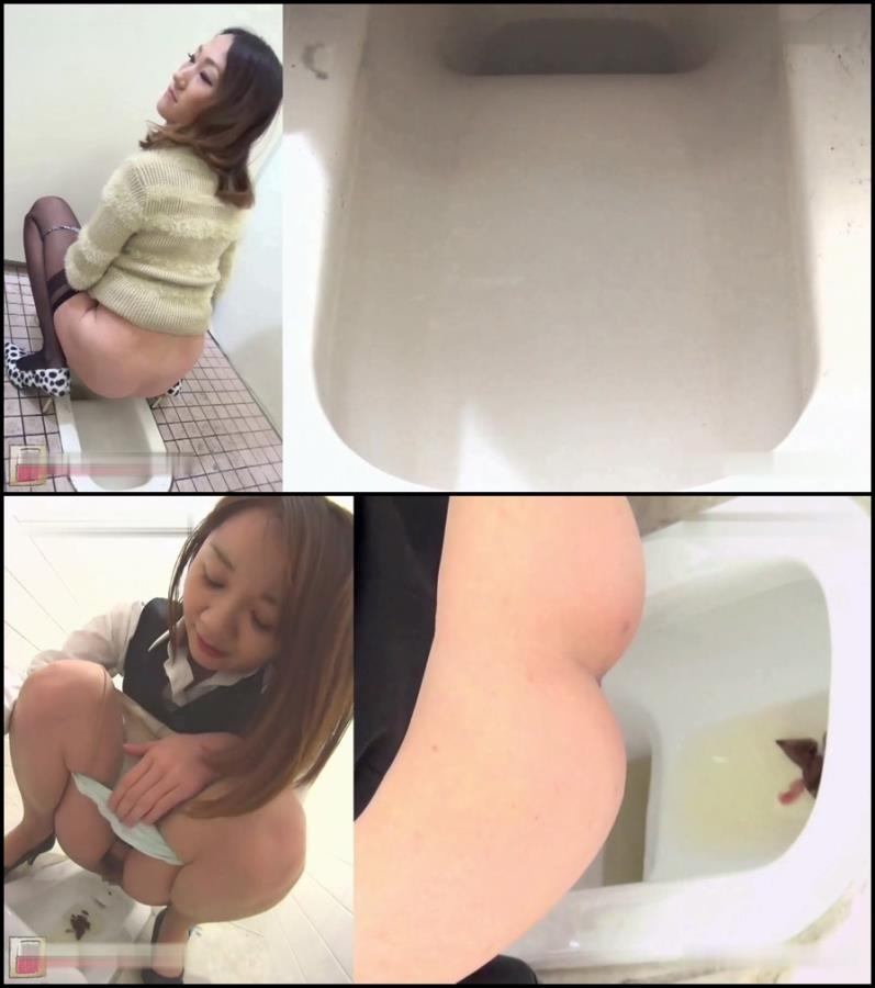 Girls self filmed natural poop in toilet 2018 (BFJG-40) [FullHD/1920x1080]