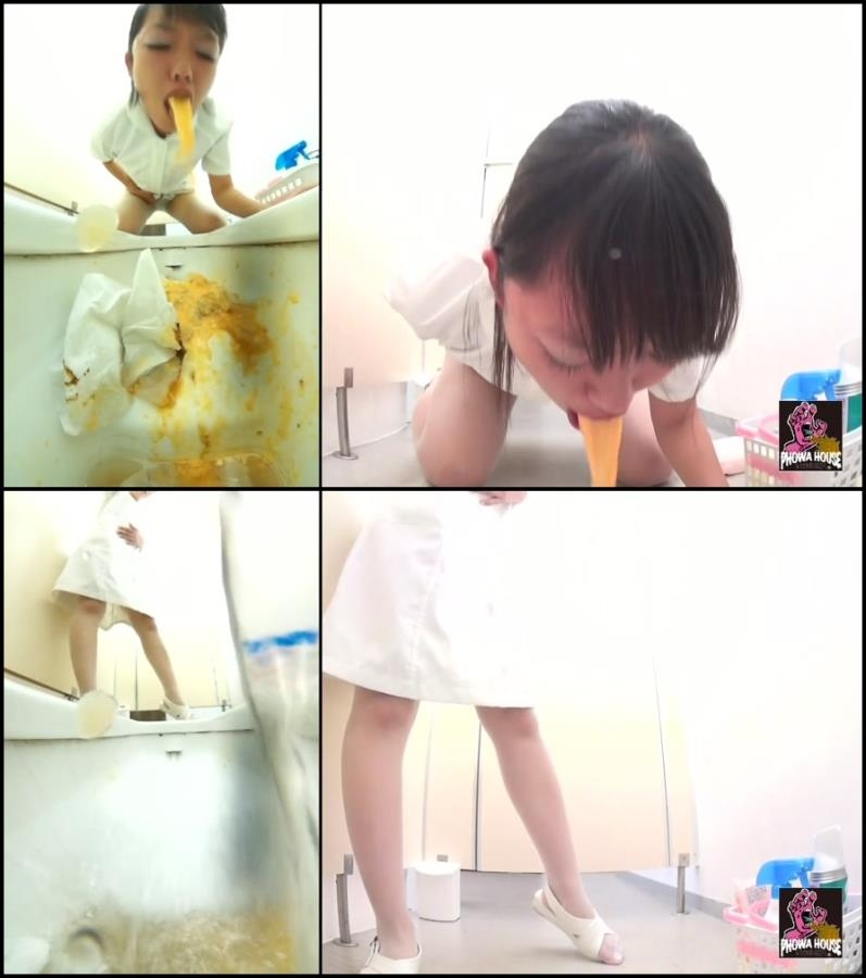 Girl puke in toilet after food poisoning 2018 (BFJV-11) [FullHD/1920x1080]