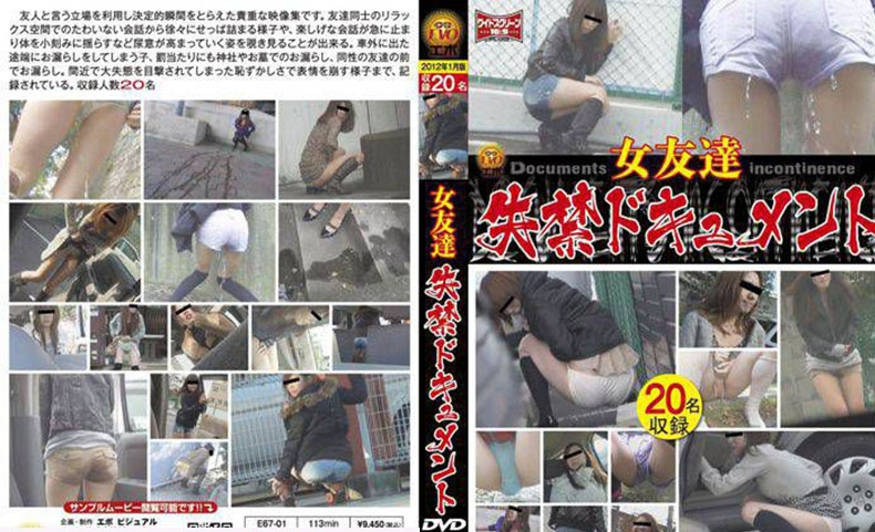 女友達 失禁ドキュメント Friend Long Fed in the Toilet 2019 (E67-01) [SD/864x480]